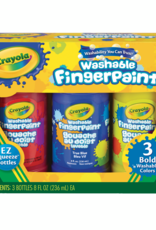 Crayola Finger Paint 8 Ounce 3 Pack Bold
