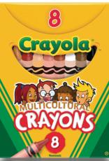 Crayola Crayons Multicultural Crayons 8 Count