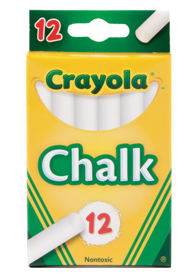 Crayola White Chalk Sticks 12 Count Box