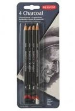 Derwent Charcoal Pencil Set of 4