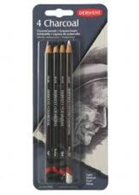 Derwent Charcoal Pencil Set of 4