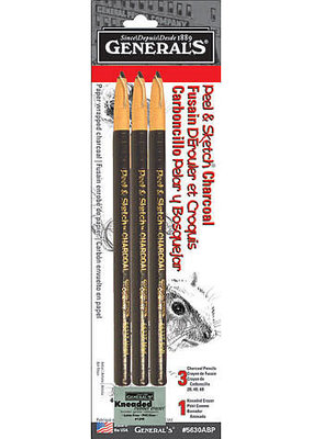 General Pencil Charcoal Peel and Sketch Kit