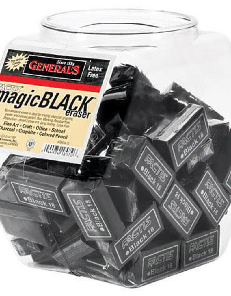 General Pencil Factis Magic Black Eraser