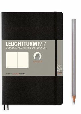 Leuchtturm Leuchtturm Softcover B6+ Blank Black