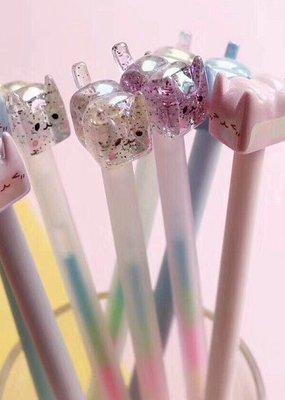 Gel Pen Crystal Cat