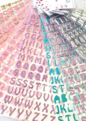 Sticker Glitter Alphabet