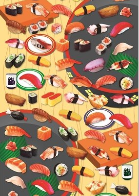 Stickers Sushi Flat