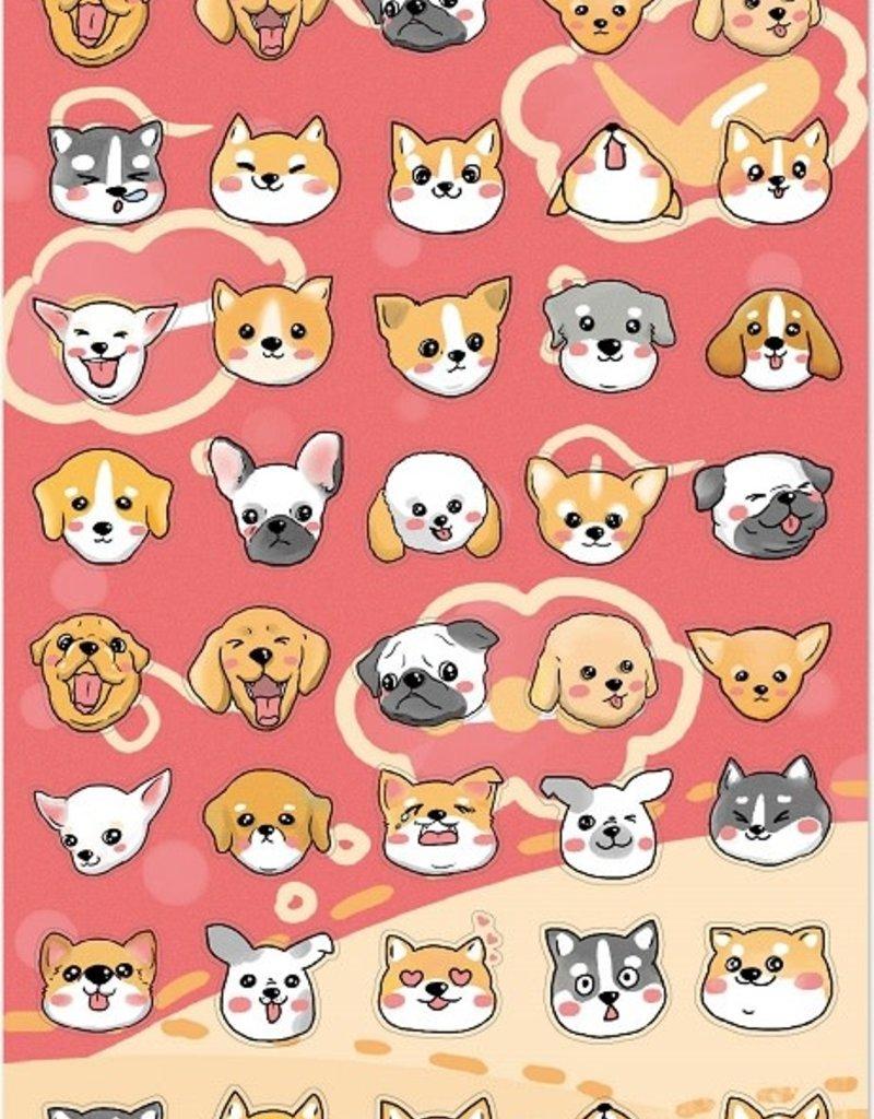 Sticker Dog Head