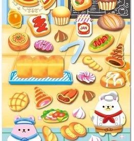 Sticker Puffy Bakery Food