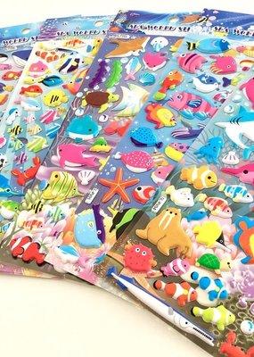 Sticker Puffy Sea World