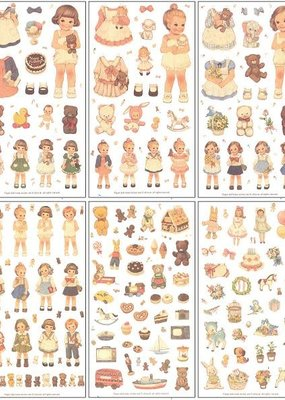 Stickers Paper Doll