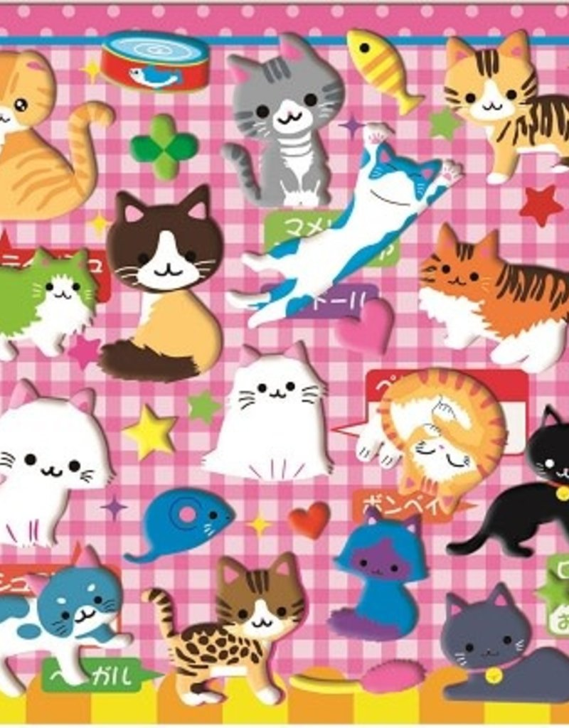 Stickers Puffy Cat