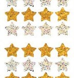 Jillson & Roberts Stickers Prismatic Stars Gold & Silver