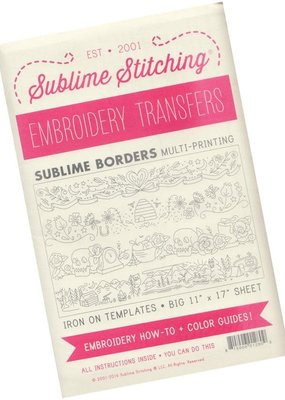 Sublime Stitching Sublime Stitching Embroidery Transfer Pattern Borders