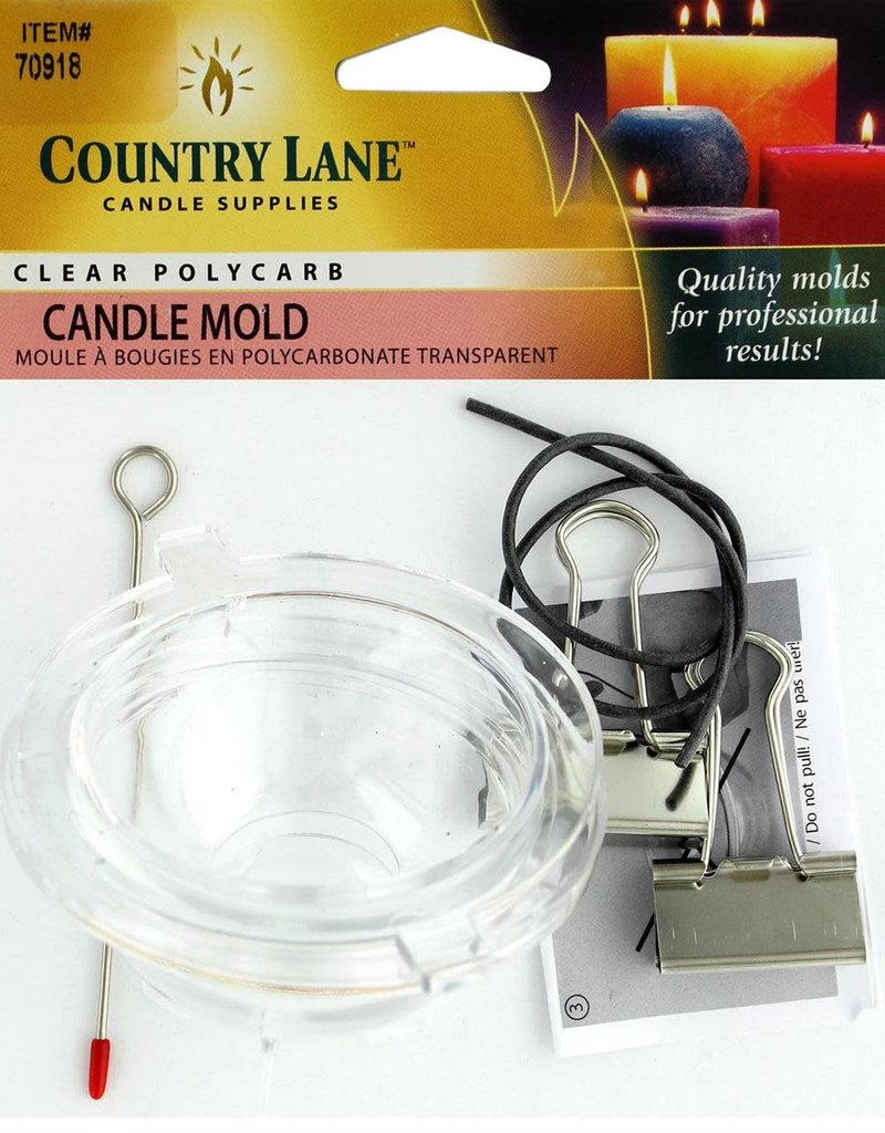 Country Lane Candle Mold Small Ball 2.5 Inch