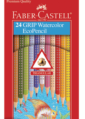 Faber-Castell Grip Watercolor Ecopencils 24
