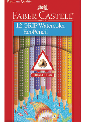 Faber-Castell Grip Watercolor Ecopencils 12 Piece Pack