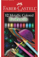 Faber-Castell Colored Pencil Set Metallic Ecopencil 12 Piece Pack