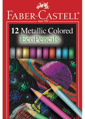 Faber-Castell Colored Pencil Set Metallic Ecopencil 12 Piece Pack