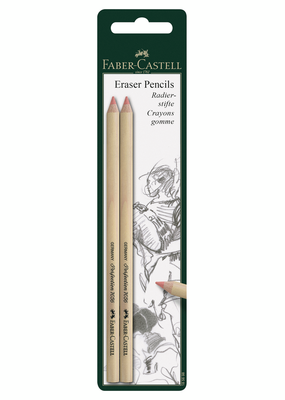 Faber-Castell Eraser Pencil Soft 2 Piece