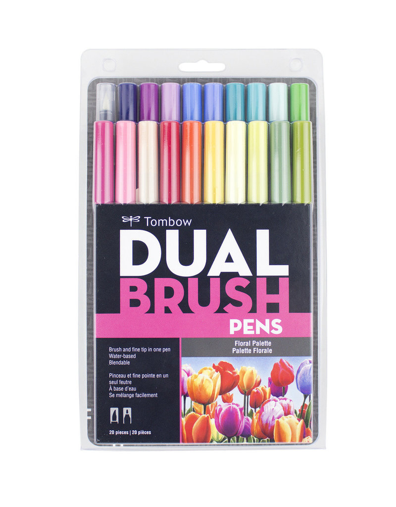 Tombow Tombow Dual Brush Pens 20 Piece Set Floral Palette