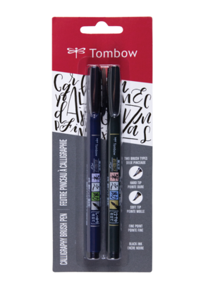Tombow Tombow Fudenosuke Brush Pen Set of 2 Black