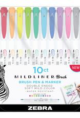 Zebra Zebra Mildliner Double Ended Brush Pen 10 Color Assorted Set