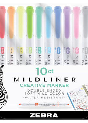 Zebra Zebra Mildliner Double Ended Highlighter 10 Color Set