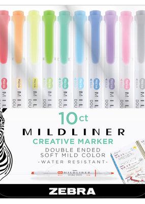 Zebra Zebra Mildliner Double Ended Highlighter 10 Color Set