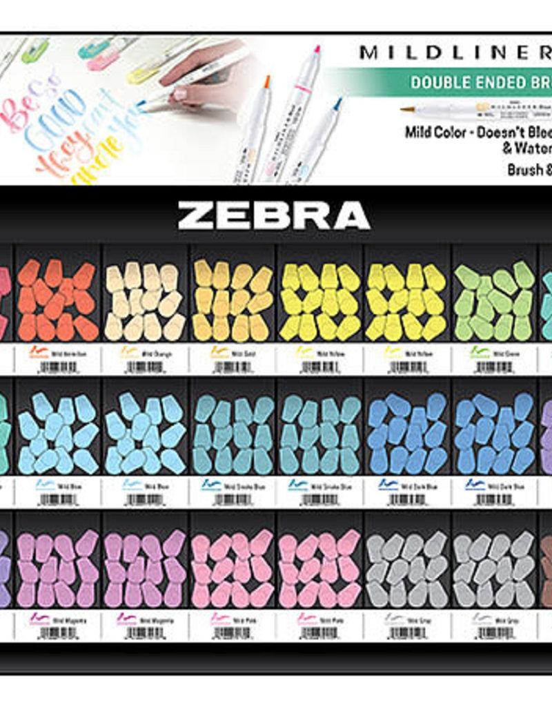 Zebra Zebra Mildliner Double Ended Brush Pen