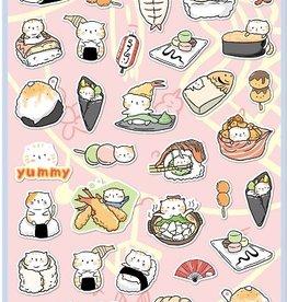 Sticker Flat Sushi Cat