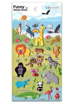 Sticker Wild Life Puffy