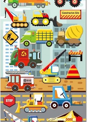Sticker Construction Trucks