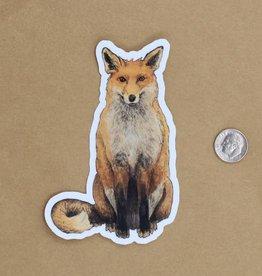 Amy Rose Moore Illustration Sticker Red Fox