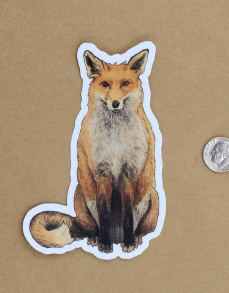 Amy Rose Moore Illustration Sticker Red Fox