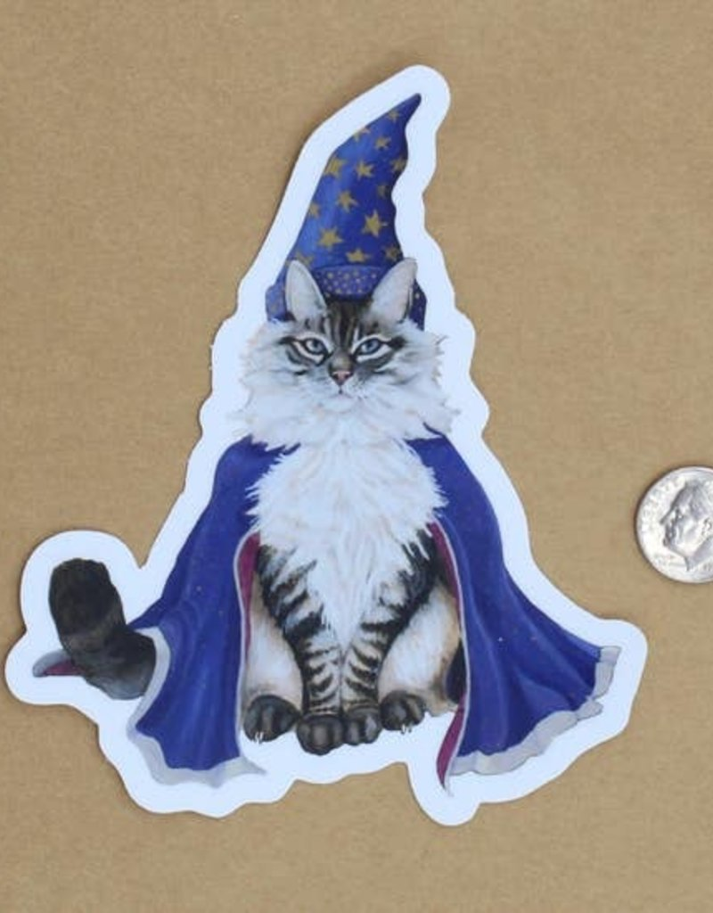 Amy Rose Moore Illustration Sticker Cat Wizard