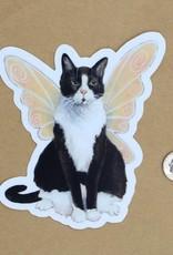 Amy Rose Moore Illustration Sticker Cat Fairy