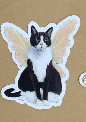 Amy Rose Moore Illustration Sticker Cat Fairy