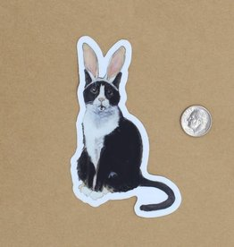Amy Rose Moore Illustration Sticker Cat Bunny