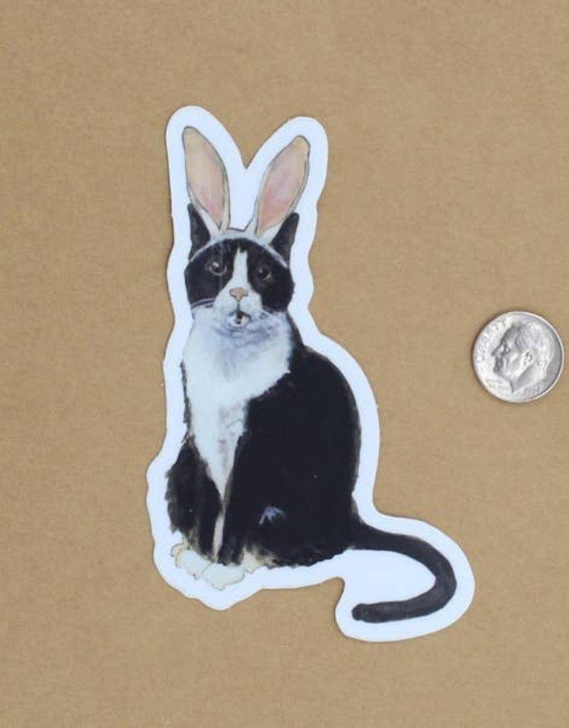 Amy Rose Moore Illustration Sticker Cat Bunny