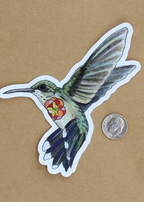 Amy Rose Moore Illustration Sticker Hummingbird