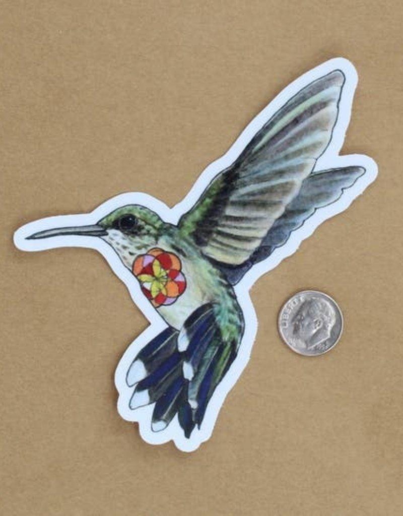 Amy Rose Moore Illustration Sticker Hummingbird
