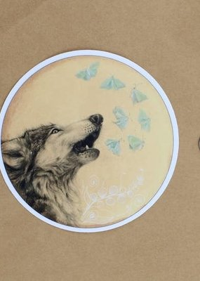 Amy Rose Moore Illustration Sticker Wolf Howl