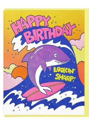Lucky Horse Press Card Lookin' Sharp Birthday Shark