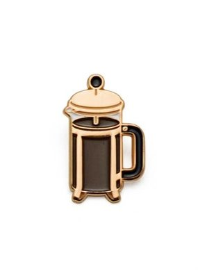 Lucky Horse Press Enamel Pin Coffee Press Rose Gold
