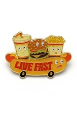 Lucky Horse Press Enamel Pin Live Fast