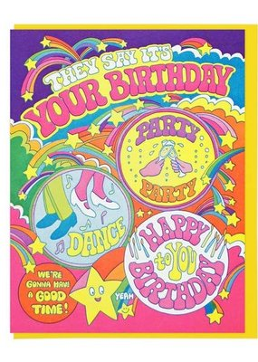 Lucky Horse Press Card They Say It's Your Birthday
