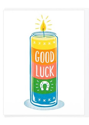 Lucky Horse Press Card Good Luck Votive Candle