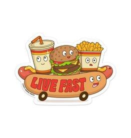 Lucky Horse Press Sticker Live Fast