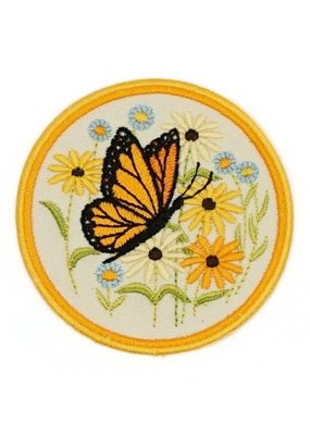 Lucky Horse Press Patch Butterfly Natural White